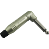 "1/4"" Plug - Amphenol, Mono, Right Angle, Satin image 1"