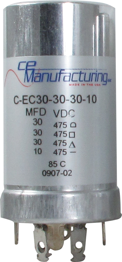 Capacitor - CE Mfg., 475V, 30/30/30/10µF, Electrolytic