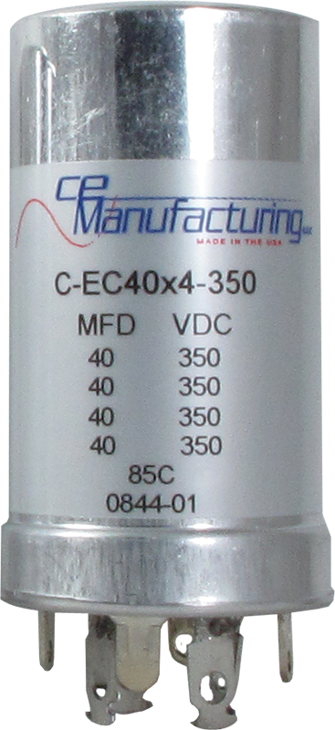 Capacitor - CE Mfg., 350V, 40/40/40/40 μF