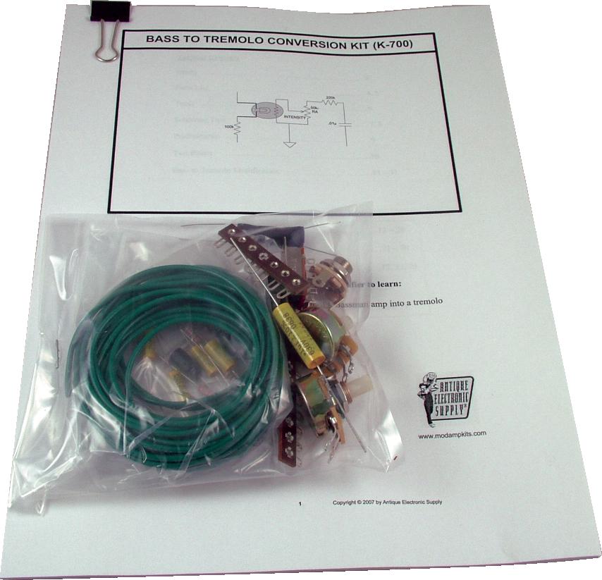Amp Mod Kit - MOD® Kits, Bass to Tremolo Conversion Kit