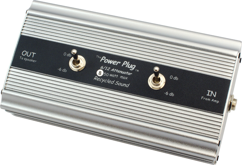 Attenuator - Recycled Sound, Power Plug 6 / 12, -6dB or -12dB