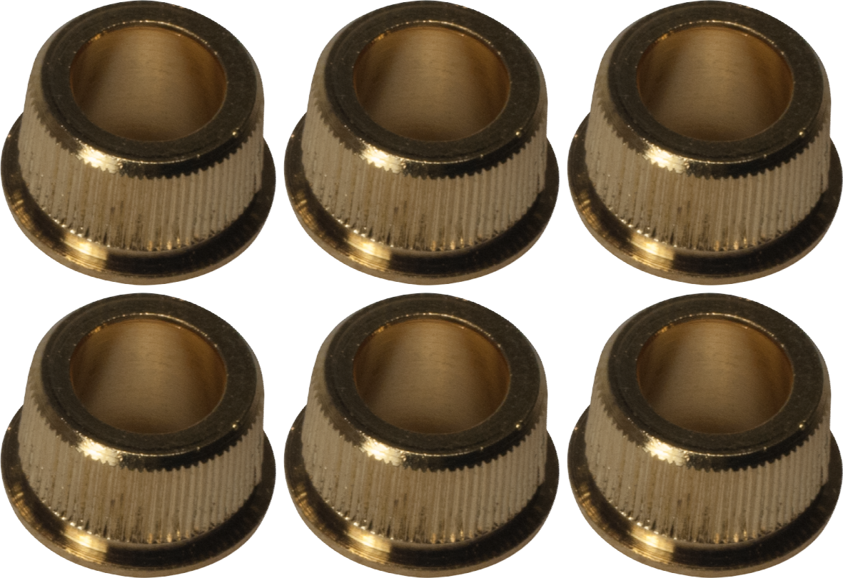 "8.8 mm outside diam .25/"" inside MBG65N Gibson 6 Kluson tuner BUSHINGS Nickel"
