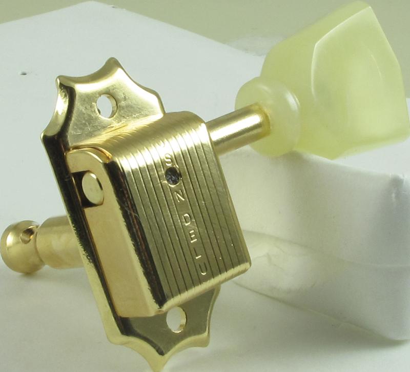 Tuning machine - Kluson, 3 per side, with pearloid keystone