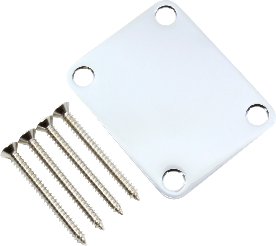 Gotoh Fender Replacement 4 Hole Neckplate with Mounting Screws