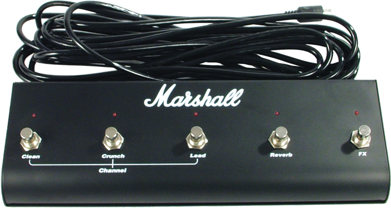 Footswitch Box - Marshall, 5 Button with LED