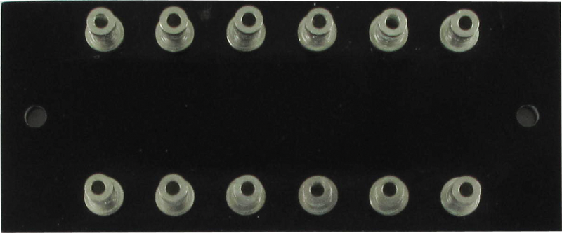 Turret Strip - 77mm x 32mm , loaded with 12 turrets