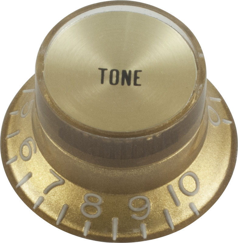 knob top hat gold with gold cap gibson style amplified parts. Black Bedroom Furniture Sets. Home Design Ideas