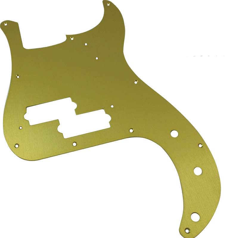 Pickguard - Fender®, '57 P-Bass, Gold-Anodized | Amplified Parts