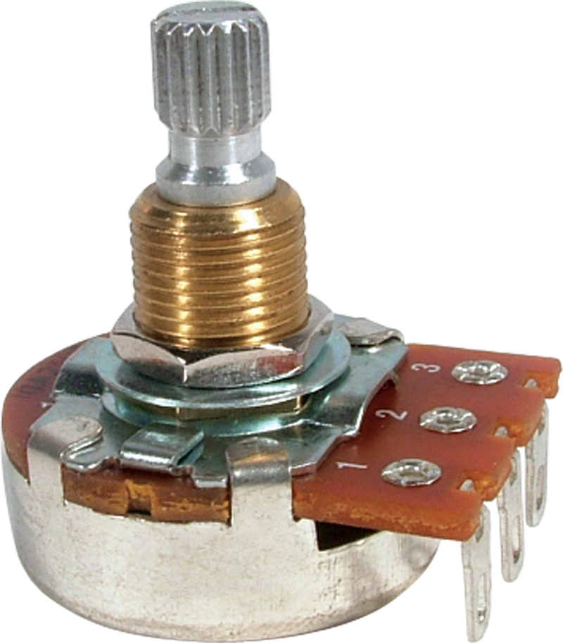 Potentiometer - Bourns, Linear, Knurled Shaft | Amplified Parts