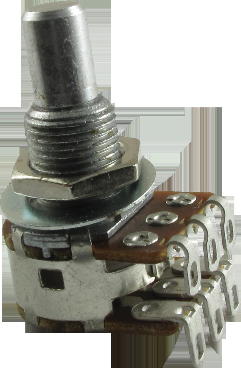 Potentiometer - Bourns, Dual MN Taper, Solid Shaft, 500kΩ