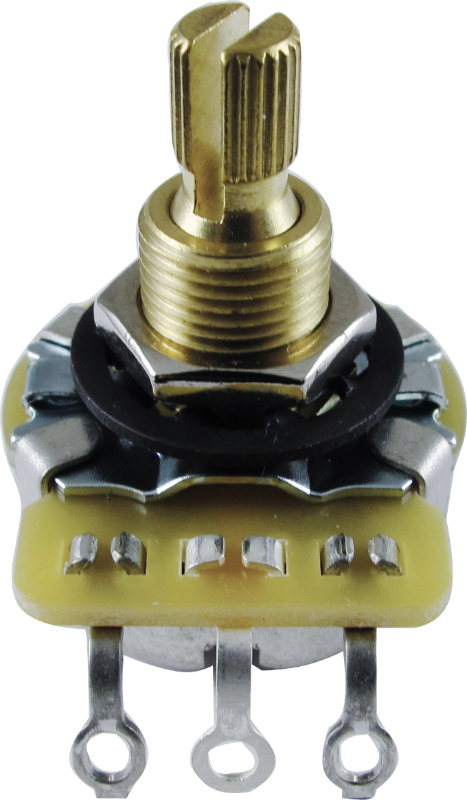 "Potentiometer - CTS, Linear, Knurled Shaft, 3/8"" Bushing"