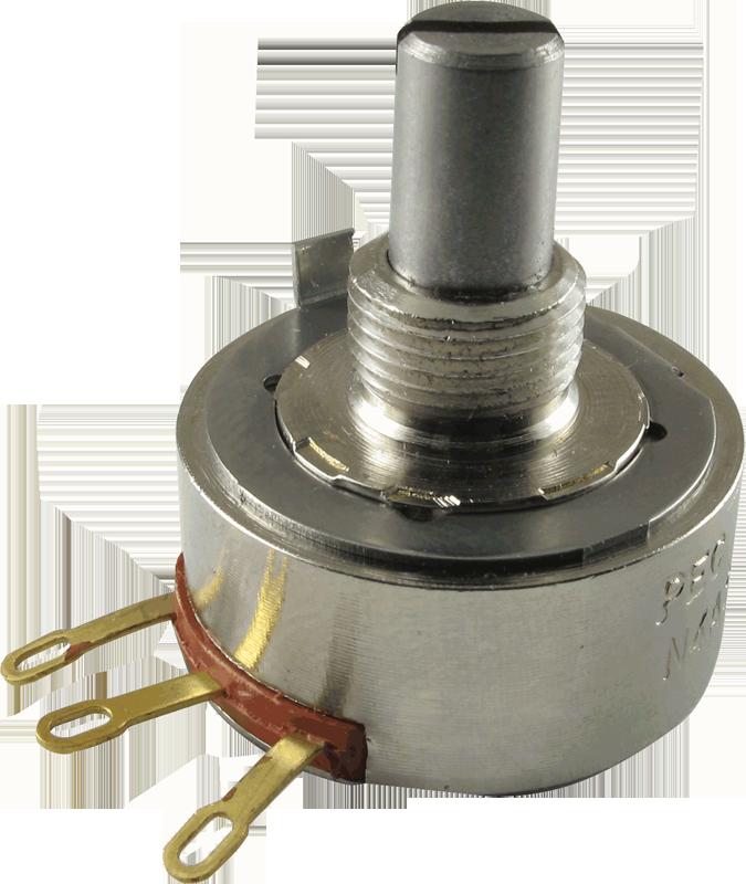 Potentiometer - PEC Guitar, Audio, Solid Shaft   Amplified Parts