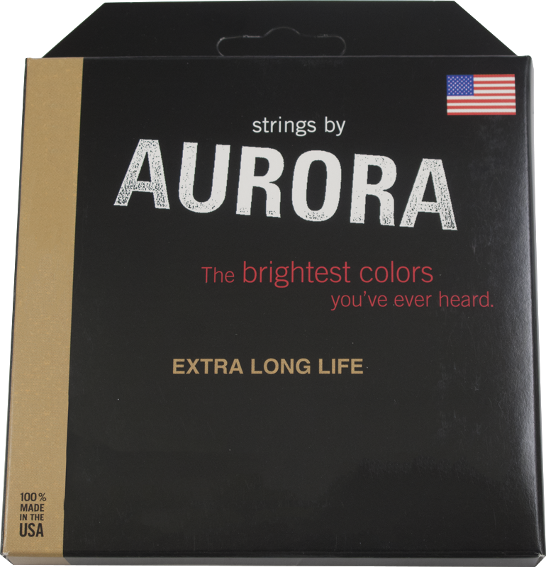 Electric Guitar Strings Aurora Colored Light Amplified Parts