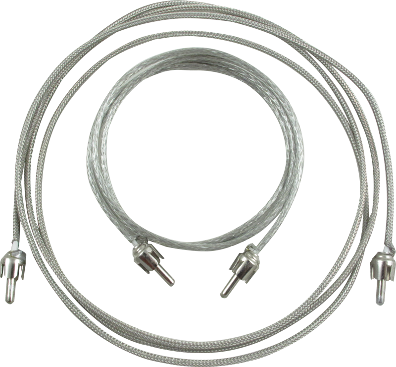 """Vintage Braided Reverb Cable Kit for Fender Vibrolux Reverb  1-46/"""" /& 1-34/"""" Cable"""