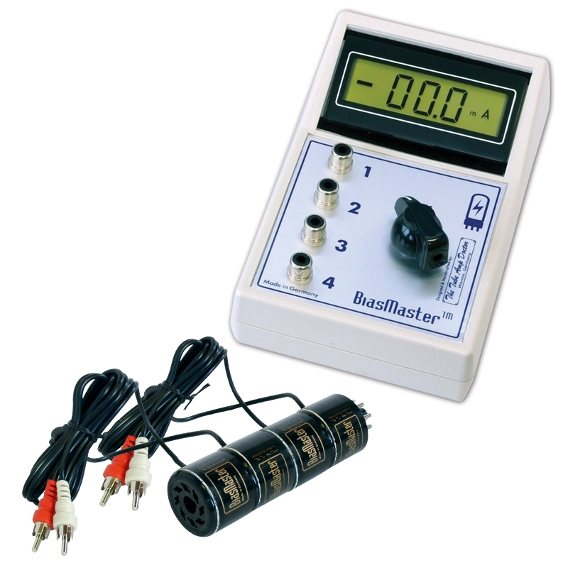 Bias Master™ - TAD, tube tester, with 4 probes on tube terminals, tube dimensions, tube assembly, tube fuses,