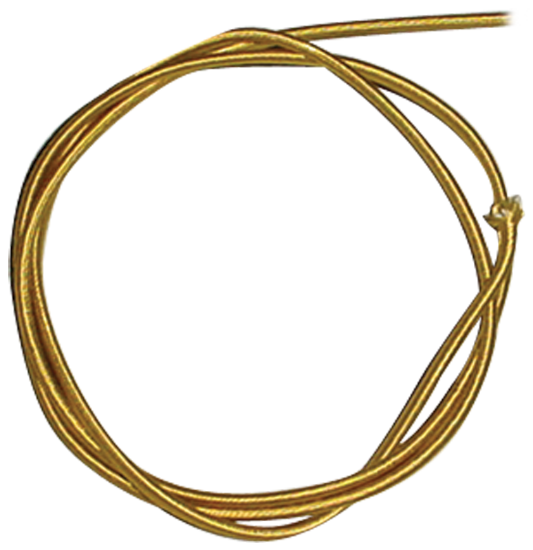 Wire - 18 Gauge Braided Power Cord, Parallel Gold, per foot ...