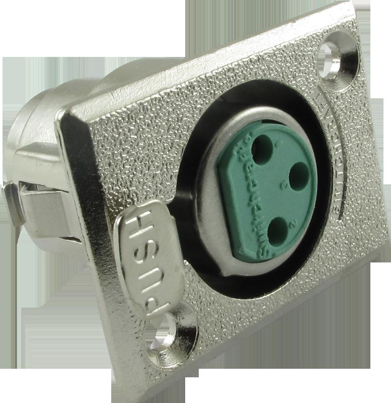 XLR Jack - Switchcraft, premium, rectangular panel-mount